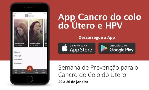 App Cancro do Colo do Útero e HPV